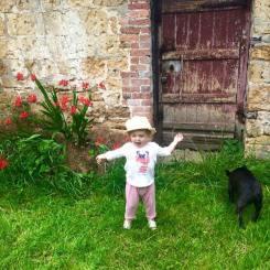 Baby with dog Ann Culme-Seymour 1