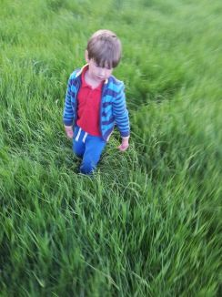 Boy in grass Sian Evans 2