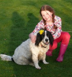 Girl and dog Emily Archibald 1