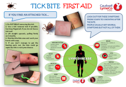 Tick bite first aid
