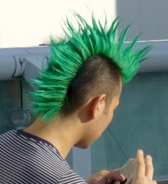 Green-mohawk-kitasenju-japan-july24-2016